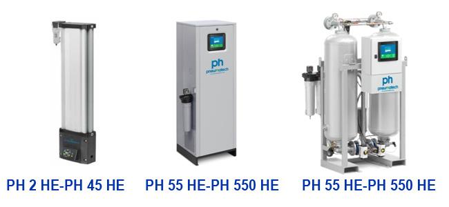 Адсорбционные осушители холодной регенерации PH HE - High Efficiency (высокоэффективные) EKOMAK
