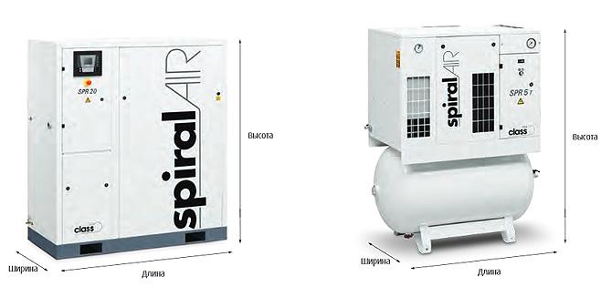 Безмасляные спиральные компрессоры Spiralair SPR EKOMAK