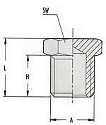 Заглушки 1223/2 295/1 М1/8, 1223/3 295/2 М1/4, 1223/4 295/3 М3/8, 1223/5 295/4 М1/2 GAV
