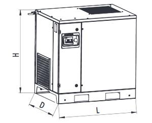 Винтовые маслонаполненные компрессоры серии F Comprag