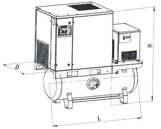 Винтовые маслонаполненные компрессоры серии FR-FRD Comprag
