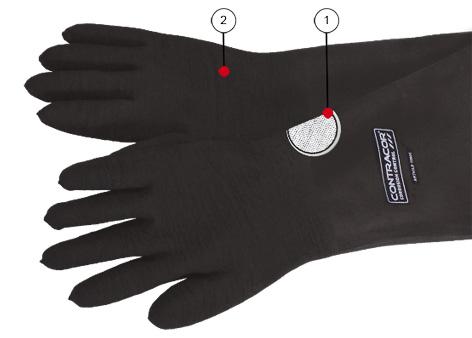 Защитные перчатки для абразивоструйных кабин серии RGA
