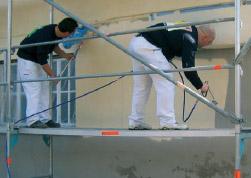 Проведение окрасочных работ с помощью электрического безвоздушного распылителя Ultra Max Graco