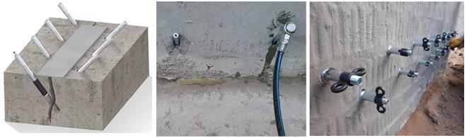 Инъектирование, восстановление герметичности и гидроизоляция швов в месте соединения стен и плит основания