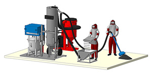 Комплект оборудования участка пескоструйной обработки