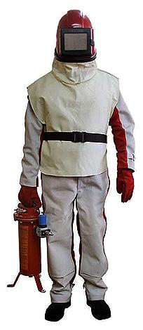 Комплект защиты оператора абразивной установки