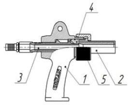 Абразивоструйный пистолет ORKAN с заборным устройством.